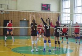 23 декабря в « ГСГУ» города Коломна, заключительная игра первого круга Чемпионата Юго-Востока Московской области по волейболу среди женских команд